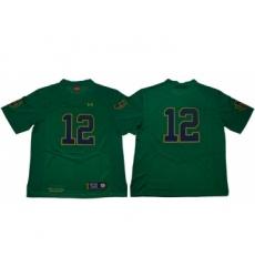 Fighting Irish #12 Ian Book Green Limited Stitched NCAA Jersey