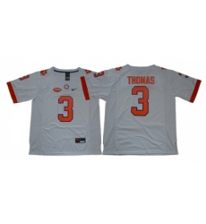 Clemson Tigers 3 Xavier Thomas White College Football Jersey