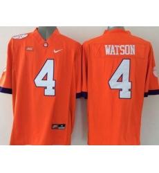 Clemson Tigers #4 Deshaun Watson Orange Limited Stitched NCAA Jersey