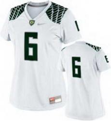 NEW Women Oregon Ducks white #6 NCAA Jerseys