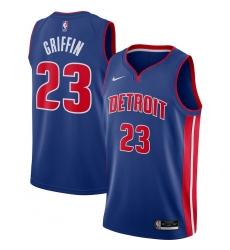 Men's Detroit Pistons #23 Blake Griffin Nike Blue 2020-21 Swingman Jersey