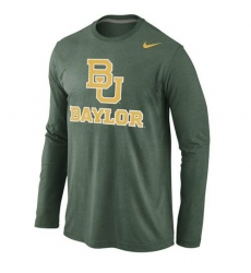 Baylor Bears Nike Logo Cotton Long Sleeves T-Shirt Green