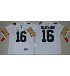 Iowa Hawkeyes #16 C. J. Beathard White Stitched NCAA Jersey