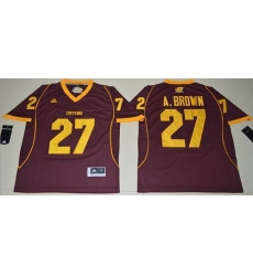 Central Michigan Chippewas #27 Antonio Brown Maroon Stitched NCAA Jersey