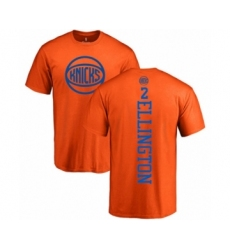 Basketball New York Knicks #2 Wayne Ellington Orange One Color Backer T-Shirt