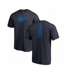 Basketball Oklahoma City Thunder #3 Chris Paul Navy Blue One Color Backer T-Shirt