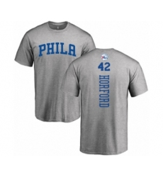 Basketball Philadelphia 76ers #42 Al Horford Ash Backer T-Shirt