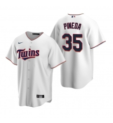 Men's Nike Minnesota Twins #35 Michael Pineda White Home Stitched Baseball Jersey