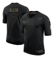 Men's Buffalo Bills #17 Josh Allen Black Nike 2020 Salute To Service Limited Jersey