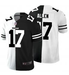 Men's Buffalo Bills #17 Josh Allen Black White Limited Split Fashion Football Jersey