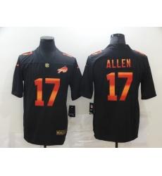 Men's Buffalo Bills #17 Josh Allen Black colorful Nike Limited Jersey