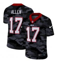 Men's Buffalo Bills #17 Josh Allen Camo 2020 Nike Limited Jersey