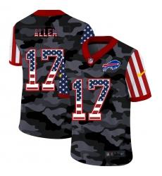 Men's Buffalo Bills #17 Josh Allen Camo Flag Nike Limited Jersey