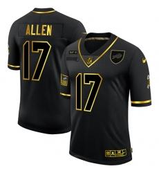 Men's Buffalo Bills #17 Josh Allen Olive Gold Nike 2020 Salute To Service Limited Jersey
