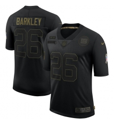 Men's New York Giants #26 Saquon Barkley Black Nike 2020 Salute To Service Limited Jersey