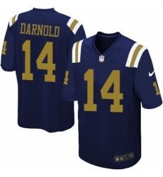 Men's Nike New York Jets #14 Sam Darnold Limited Navy Blue Alternate NFL Jersey