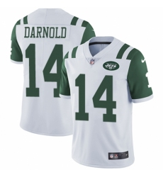 Youth Nike New York Jets #14 Sam Darnold White Vapor Untouchable Limited Player NFL Jersey