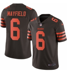 Men's Nike Cleveland Browns #6 Baker Mayfield Limited Brown Rush Vapor Untouchable NFL Jersey