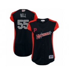 Women's Pittsburgh Pirates #55 Josh Bell Authentic Navy Blue National League 2019 Baseball All-Star Jersey