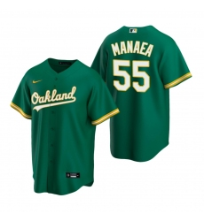 Men's Nike Oakland Athletics #55 Sean Manaea Green Alternate Stitched Baseball Jersey