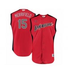 Men's Kansas City Royals #15 Whit Merrifield Authentic Red American League 2019 Baseball All-Star Jersey