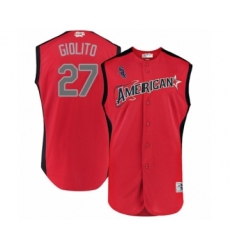 Men's Chicago White Sox #27 Lucas Giolito Authentic Red American League 2019 Baseball All-Star Jersey
