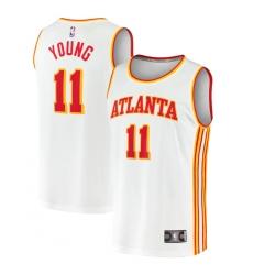 Men's Atlanta Hawks #11 Trae Young Fanatics Branded White 2020-21 Fast Break Player Jersey