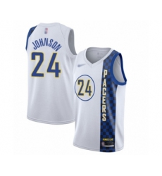 Men's Indiana Pacers #24 Alize Johnson Swingman White Basketball Jersey - 2019 20 City Edition
