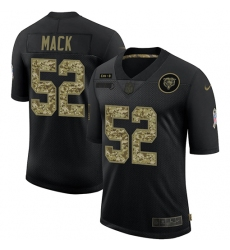 Men's Chicago Bears #52 Khalil Mack Camo 2020 Salute To Service Limited Jersey