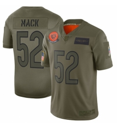 Men's Chicago Bears #52 Khalil Mack Limited Camo 2019 Salute to Service Football Jersey