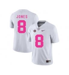 Alabama Crimson Tide 8 Julio Jones White 2018 Breast Cancer Awareness College Football Jersey