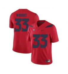 Arizona Wildcats 33 Scooby Wright Red College Football Jersey