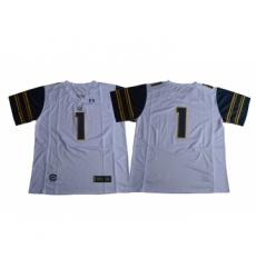 California Golden Bears 1 DeSean Jackson White College Football Jersey