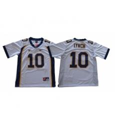 California Golden Bears 10 Marshawn Lynch White College Football Jersey