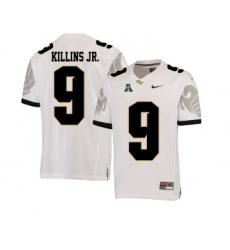 UCF Knights 9 Adrian Killins Jr. White College Football Jersey
