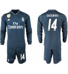 2018-19 Real Madrid 14 CASEMIRO Away Long Sleeve Soccer Jersey