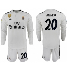 2018-19 Real Madrid 20 ASENSIO Home Long Sleeve Soccer Jersey