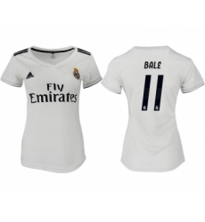 2018-19 Real Madrid 11 BALE Home Women Soccer Jersey