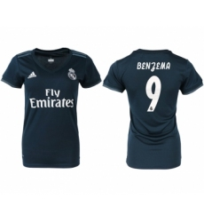 2018-19 Real Madrid 9 BENGEMA Away Women Soccer Jersey