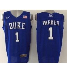 Blue Devils #1 Jabari Parker Blue Basketball Elite Stitched NCAA Jersey