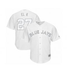 Men's Toronto Blue Jays #27 Vladimir Guerrero Jr. El K  Authentic White 2019 Players Weekend Baseball Jersey