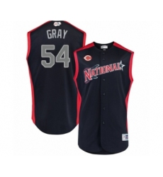 Youth Cincinnati Reds #54 Sonny Gray Authentic Navy Blue National League 2019 Baseball All-Star Jersey