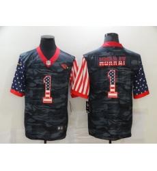 Men's Arizona Cardinals #1 Kyler Murray Camo Flag Nike Limited Jersey
