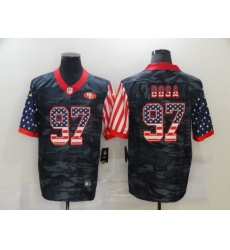 Men's San Francisco 49ers #97 Nick Bosa Camo Flag Nike Limited Jersey