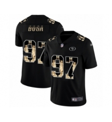 Men's San Francisco 49ers #97 Nick Bosa Limited Black Statue of Liberty Football Jersey