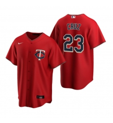 Men's Nike Minnesota Twins #23 Nelson Cruz Red Alternate Stitched Baseball Jersey