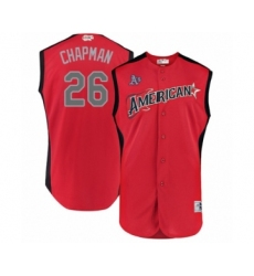 Men's Oakland Athletics #26 Matt Chapman Authentic Red American League 2019 Baseball All-Star Jersey