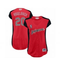 Women's Seattle Mariners #20 Dan Vogelbach Authentic Red American League 2019 Baseball All-Star Jersey