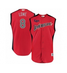 Youth Tampa Bay Rays #8 Brandon Lowe Authentic Red American League 2019 Baseball All-Star Jersey