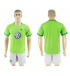 Wolfsburg Blank Home Soccer Club Jersey